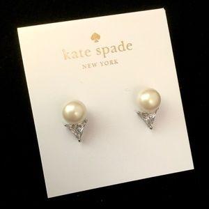 Kate Spade Bright Ideas Triangle Pearl Ear…